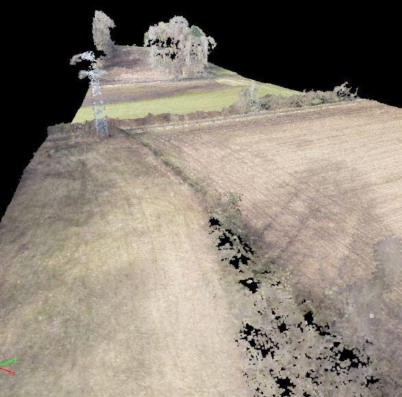 Cartographie 3D d'une ligne haute tension