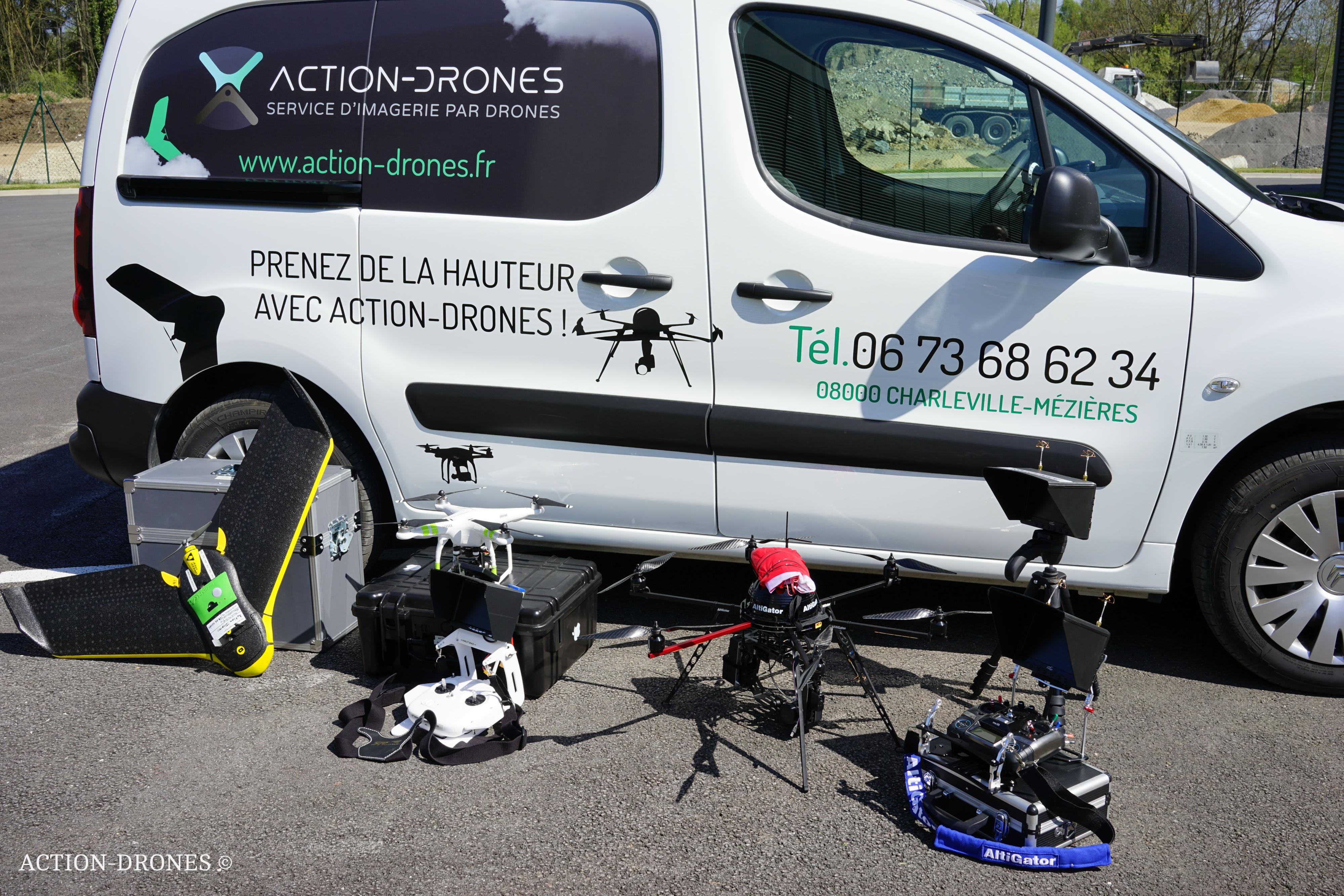 La flotte Action-Drones à Charleville-Mézières est au complet.