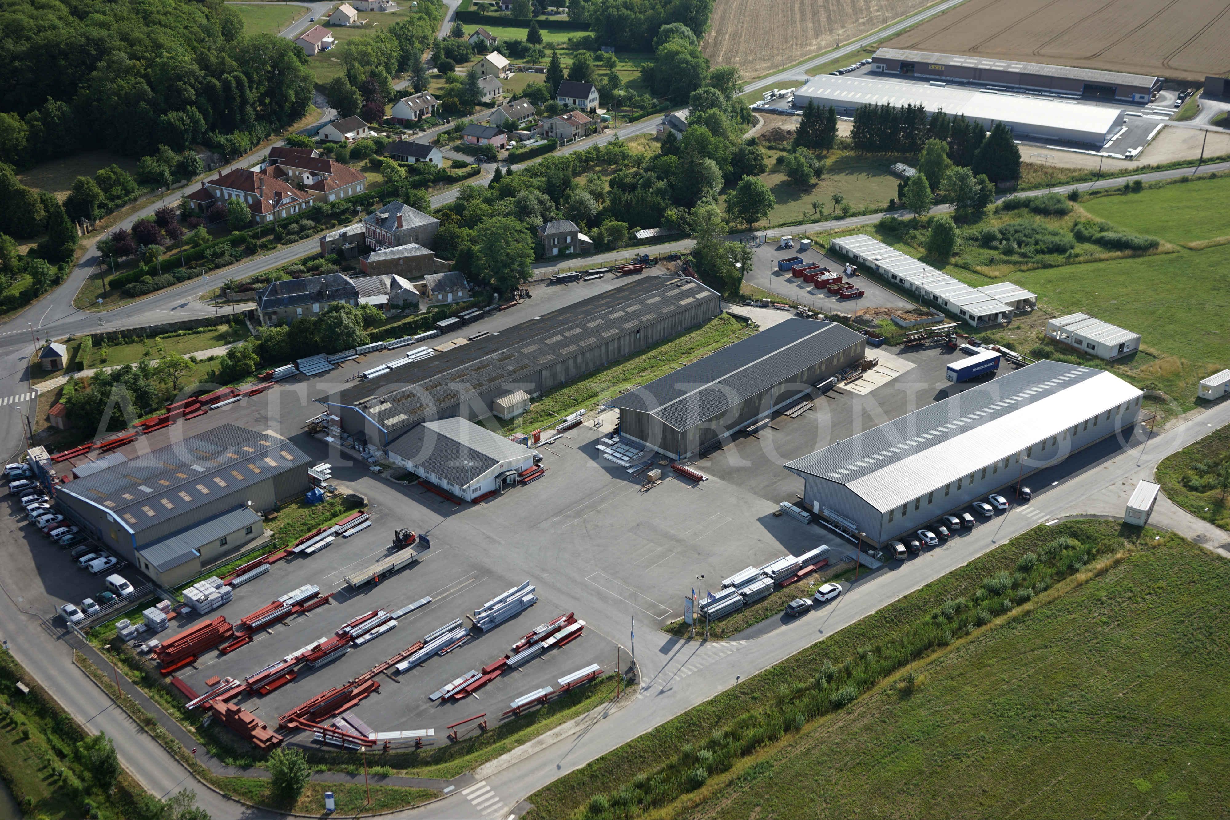Vue aérienne de l'usine SCREB