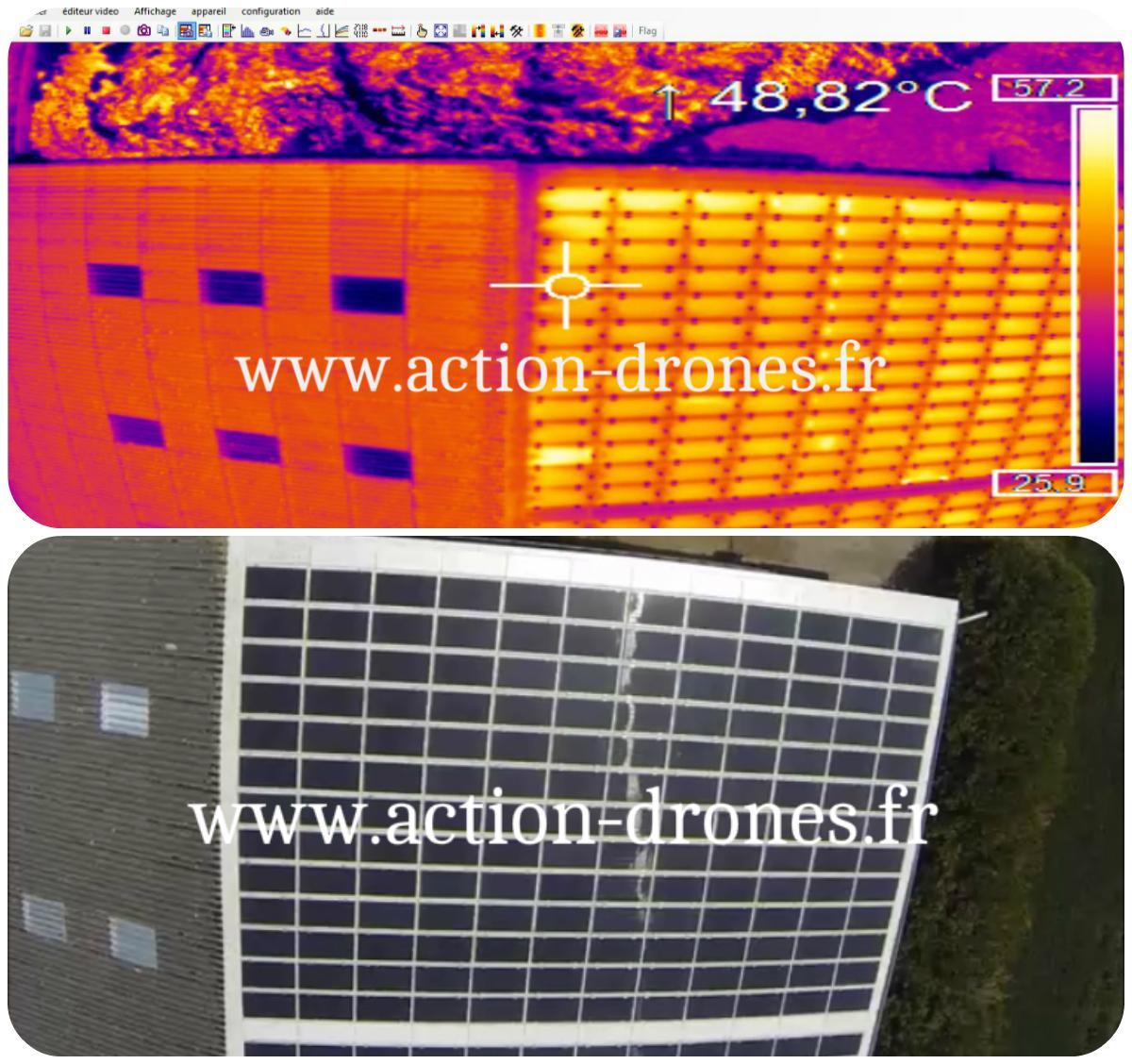 Inspection de panneaux photovoltaïques par drone (2)