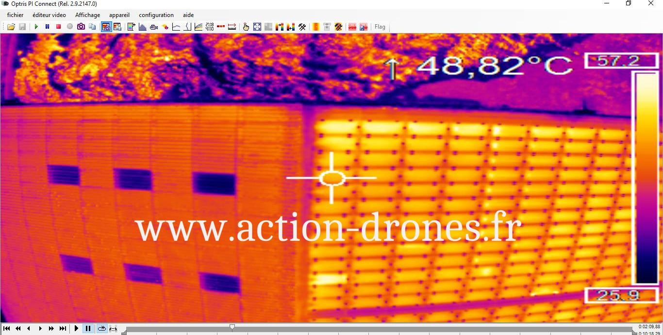 Inspection de panneaux photovoltaïques par drone