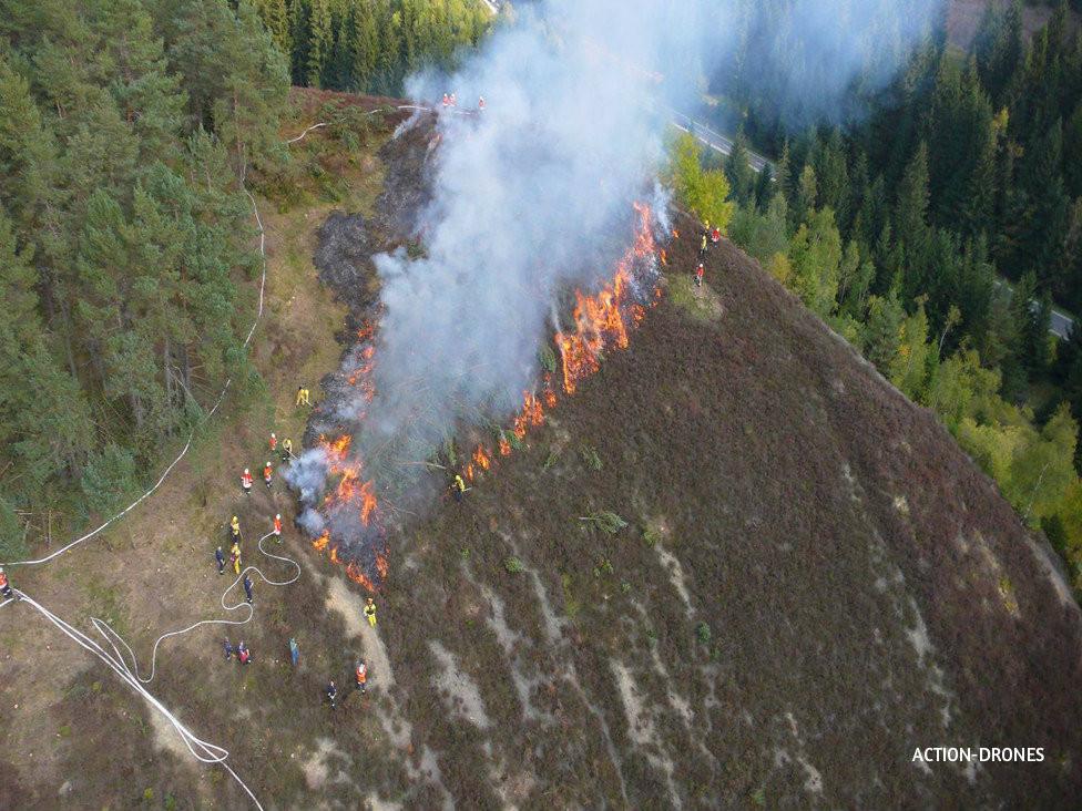 Intervention sur feu de forêt